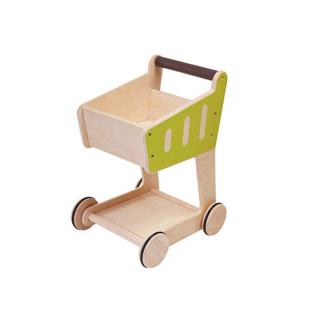 Lxrzls Children Kids Wood Wooden Shopping Trolley-Cart Pretend Play Toy-Kids Toys