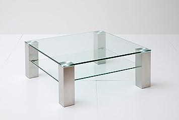 Couchtisch Beistelltisch Wohnzimmertisch Glas Ablage