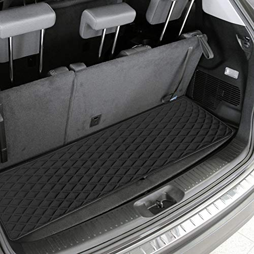 """FH Group F16501 Deluxe Heavy-Duty Faux Leather Multi-Purpose Cargo Liner, Diamond, 14"""" : 40"""" x 14"""", Black Color- Fit Most Car, Truck, SUV, or Van"""