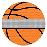 Nothin' But Net - Basketball - Baby Shower or Birthday Party Circle Sticker Labels - 24 Count