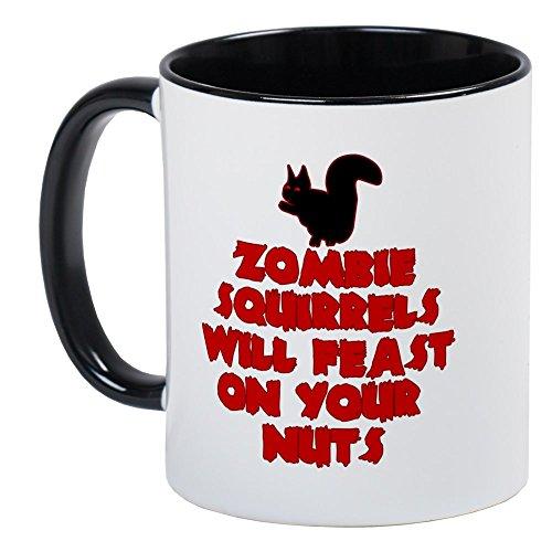 CafePress - Zombies Squirrels Mug - Unique Coffee Mug, Coffee Cup (Zombie Squirrel)