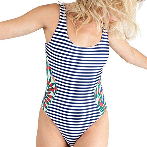 Nunubee Hot Sexy Femme Rayé Bikini Maillot La Bain Plage De L Push Marine Rembourré Bleue Bande Vacances À Eté up XwYq0rRX