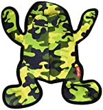 Petlou Durable Squeeze Me Plush Soft Squeaker Interactive Dog Chew Toy, squeaks, Floats, Washable, Ripped Resistant (15' Jungle Buddy Frog)