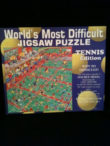 World's Most Difficult Jigsaw Puzzle- Tennis Edition (529 Pieces) by World's Most Difficult JIGSAW PAZZLE