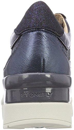 Stonefly Women's Cream 2 BIS Goat Lam Platform Heels Blue (Metal Navy T41) 4bcAf6q1AW