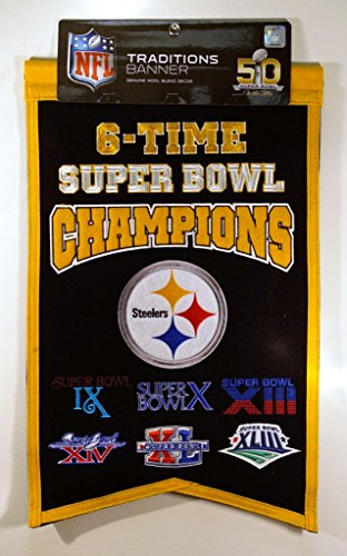(NFL Pittsburgh Steelers Champions Banner)