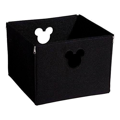 Disney Silhouette Punch - Ethan Allen | Disney Large Fantastic Felt Square Basket, Mickey's Ears Black