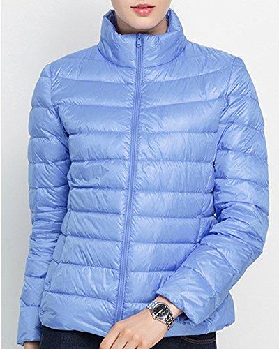 Woman Bleu de d'hiver en manches Manteau Couleur manteau Manteau duvet en longues à Jacket duvet Zhuikun TdqZHT
