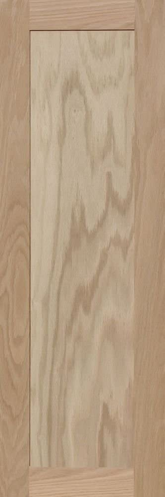 36H x 12W Unfinished Oak Square Flat Panel Cabinet Door by Kendor