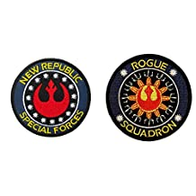 J&C Star Wars The New Republic and Rogue Squadron (2-Pack) Embroidered Sew/Iron-on Patches