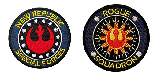 [Blue Heron Star Wars The New Republic and Rogue Squadron (2-Pack) Embroidered Iron/Sew-on Applique] (Aquaman Halloween Costumes)