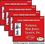 National Mah Jongg League 2018 Scorecard - Standard Print (4 Pack)