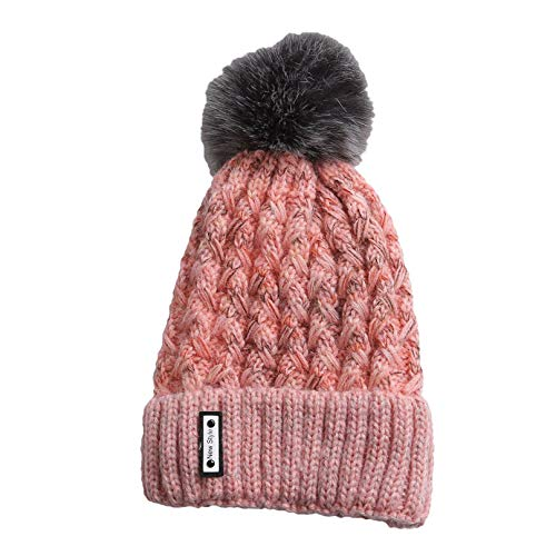 Vic Gray Women Warm Beanies Winter Knitted Hats Pom Pom Female Casual Skullies Caps