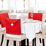 Generic 4pcs/Lot 60x50cm Xmas Red Santa Claus Hat Cap Banquet Chair Back Covers Dinner Christmas Party Decorations