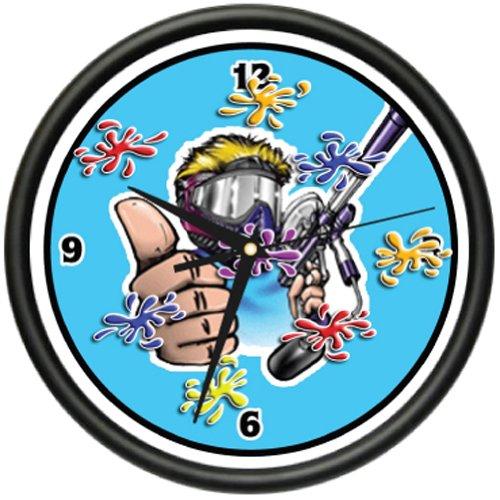 SignMission Wall Clock Gun paintballs camo amo Maker, Beagle