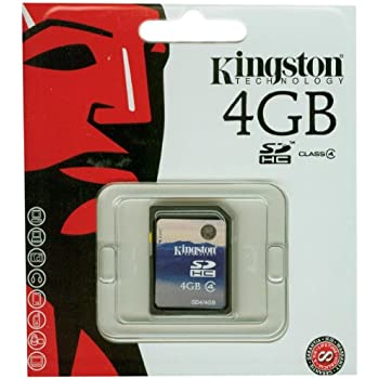 Kingston 4 GB Class 4 SDHC Flash Memory Card SD4/4GB