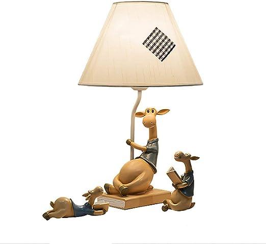 Dormitorio lámpara de mesa, ciervos de dibujos animados ajustable ...