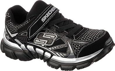 e3f2da68981f3 Skechers Boys  Tough Trax Athletic Sneaker 11.5 Black Silver
