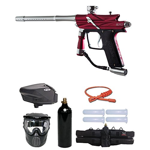 - MAddog Azodin Blitz 3 Gold Paintball Gun Package - Red