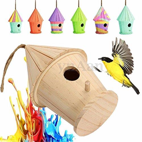 Soup Wallpaper Border (Hot Sale! Wooden Bird House Birdhouse Nesting Box Nest Home Garden Outdoor Hanging)