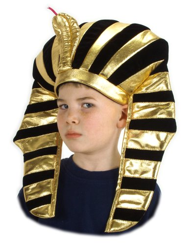 Kid Black and Gold Striped King Tut Hat