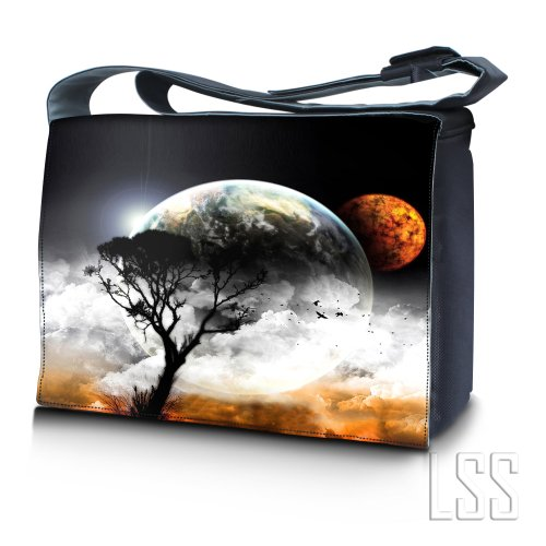 LSS 17 17.3 inch Laptop Padded Compartment Shoulder Messenger Bag Carrying Case for 16