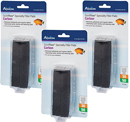 (3 Packages) Aqueon QuietFlow Carbon Cartridges with Bio-Media Grid 30/50 - 4 Cartridges per package