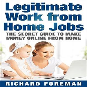 Legitimate Work from Home Jobs Audiobook