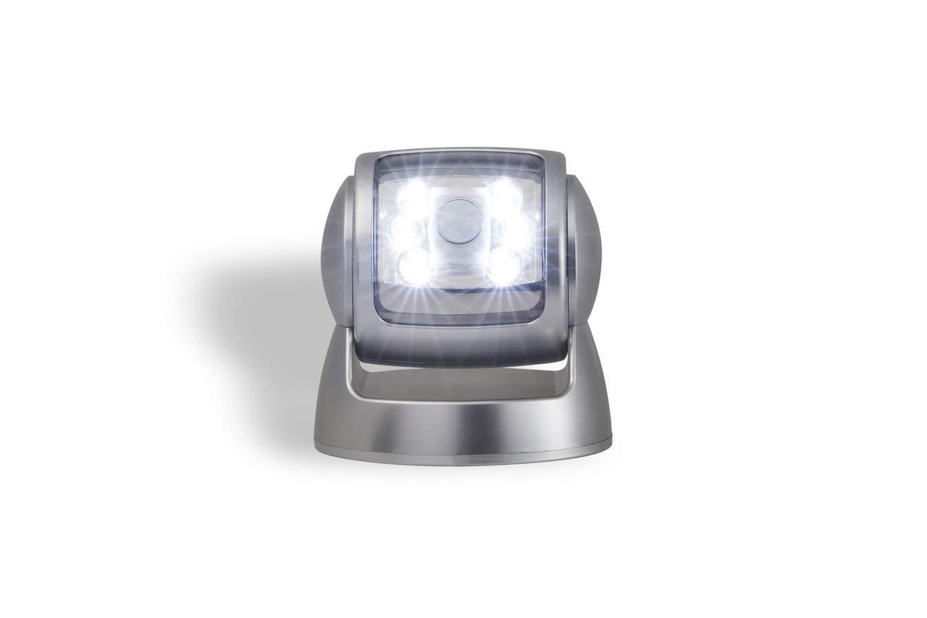 LED LOVERS Sensor de Movimiento con Luz de Exterior | Foco Inalábrico LED para Exteriores | Iluminación de Seguridad Giratoria de 360° de Pared | Para ...