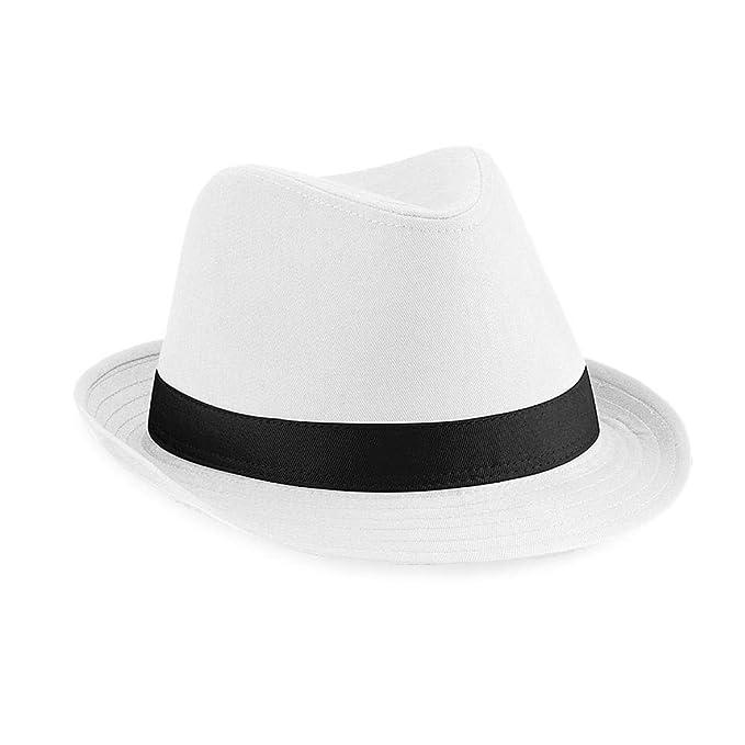 22280d968 Beechfield - Cappello di Feltro (S-M) (Bianco/Nero)