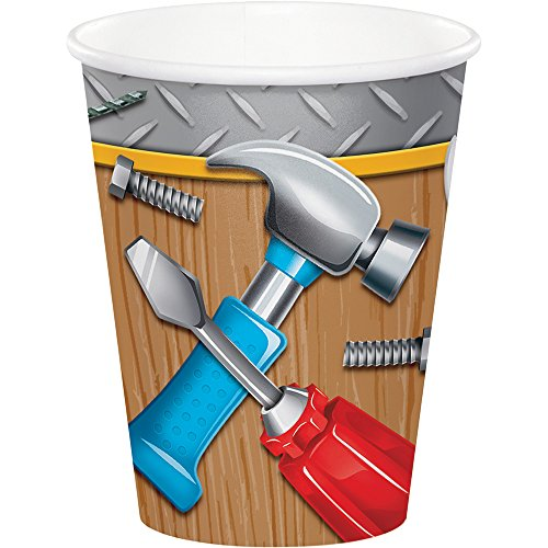 Creative Converting 321814 96 Count 9 oz Hot/Cold Paper Cups, Handyman