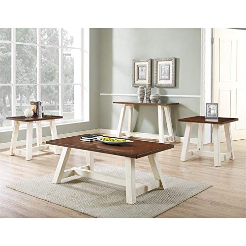 Bernards Winslow Two Tone 3 Piece Coffee Table Set