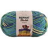 Bernat Blanket Brights Big Ball Yarn, 10.5 Ounce, Surf Variegate