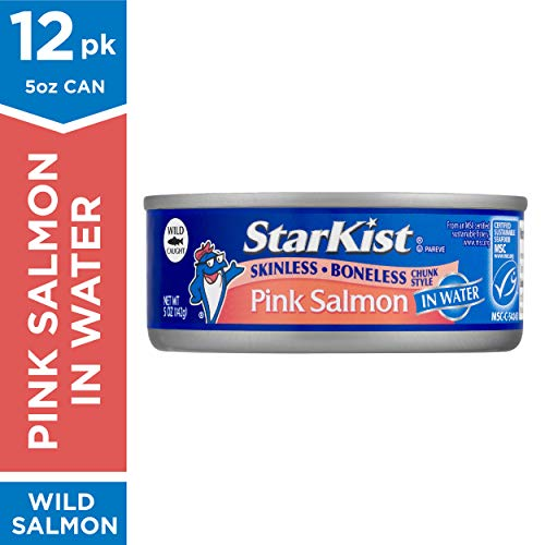 StarKist Wild Pink Salmon - Skinless, Boneless - 5 oz Can (Pack of 12) (Best Canned Salmon Brand)