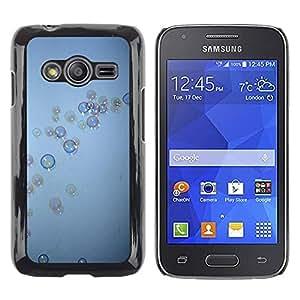 FECELL CITY // Duro Aluminio Pegatina PC Caso decorativo Funda Carcasa de Protección para Samsung Galaxy Ace 4 G313 SM-G313F // Bubbles Grey Blue Wonder Deep