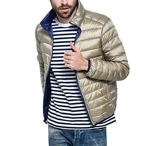 Jacket Warm Double Boys Collar Jacket Streetwear Jacket Parka Winter Light Coat Quilted Men's Jacket Coat Jacket Down Navyblue Winter Winter Side Autumn Stand Urtra 57Yzw