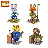 New 2016 Disney Zootopia Officer Judy Hopps Plush Movie Toy Nick Wilde Nanoblock with Original Gift Box Set
