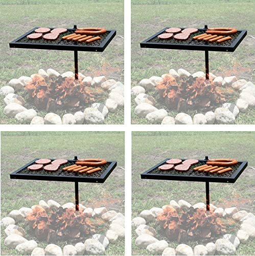 Texsport Heavy Duty Barbecue Swivel Grill for Outdoor BBQ Over Open Fire (Pack of 4)