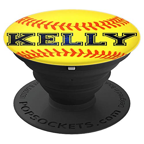 Kelly Softball Personalized Girl Name Ball Athlete Play - PopSockets Grip and Stand for Phones and - Sports Softball Kelly