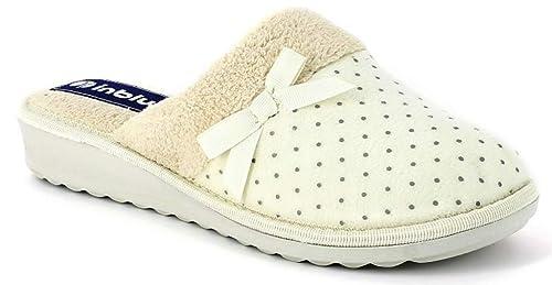 INBLU Pantofole Ciabatte Invernali da Donna Art. CI-72 Ghiaccio (36 EU) 2c7cfe369c6