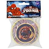 Wilton Standard Baking Cups, Spider-Man, 50-Pack
