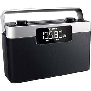 Philips AE2430 - Radio portatil (FM/MW), 1 W RMS, Negro/ Plateado: Amazon.es: Electrónica