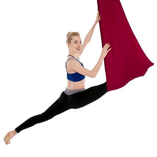 Yuanu Micro-Elasticidad Aéreo Fitness Yoga Hamaca Ultra ...
