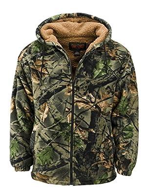 Trailcrest Men's Sherpa Lined Fleece Camouflage Hunting jacket