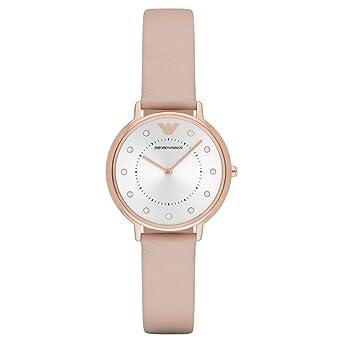 Emporio Armani Reloj para Mujer de Cuarzo con Correa en Cuero AR2510: Amazon.es: Relojes