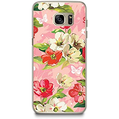 Case for Samsung S7, CasesByLorraine Floral Pattern Case Plastic Hard Cover for Samsung Galaxy S7 (E13-Pink) Sales