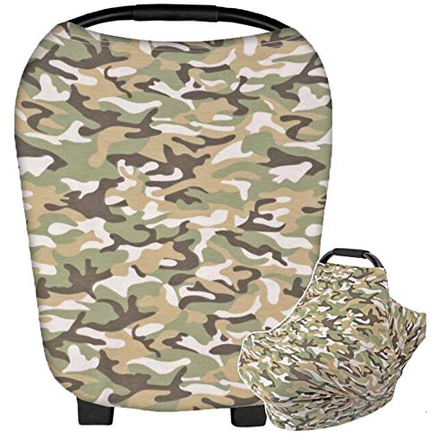 HONEY$HOMEY Camouflage Baby Car Seat Canopy, Maternity Breastfeeding Nursing Cover Scarf, High Chair Stroller Head Cover