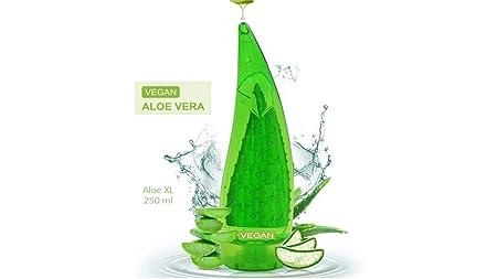100% Aloe Vera Gel, Organische und Vegan Soothing Gel für Haut, Haare und Körper, XXL Nceko Holika 250 ml | Premium Qualität