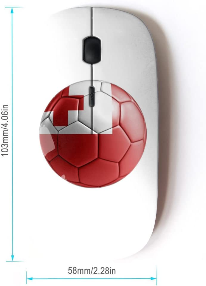 STPlus Sweden Swedish Soccer Football Ball Flag 2.4 GHz Wireless Mouse with Ergonomic Design and Nano Receiver