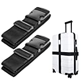 Luxebell Luggage Straps Suitcase Belt Add-A-Bag Travel Accessories, Heavy Duty Strap, 2-Pack